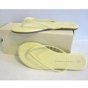 Lauren Conrad Yellow Flip Flop Sandals Size 7